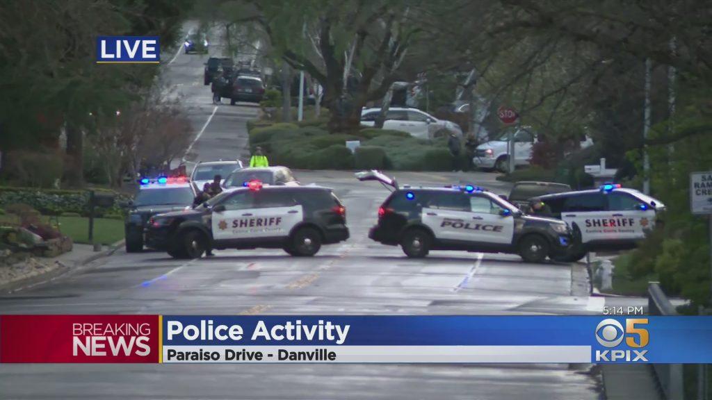 Polizei Gesicht Mann geschlossen Danville Nachbarschaft