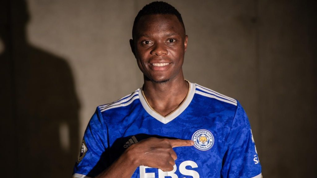 Patson Daka signs a five-year deal with Leicester - he scored 34 goals in 42 appearances in all competitions last season for Red Bull Salzburg (Credit: LCFC)