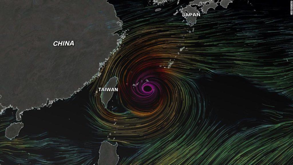 Taifun In-fa bedroht Japan und Ostasien mit starken Winden und Überschwemmungen