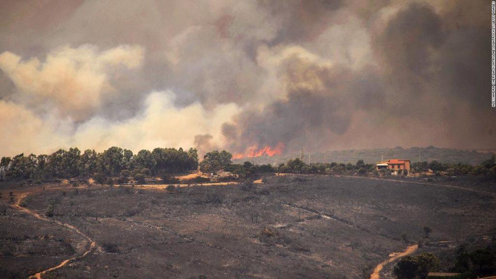 """Waldbrände verwüsten Spanien und verursachen """"beispiellose Katastrophe"""" auf Sardinien"""