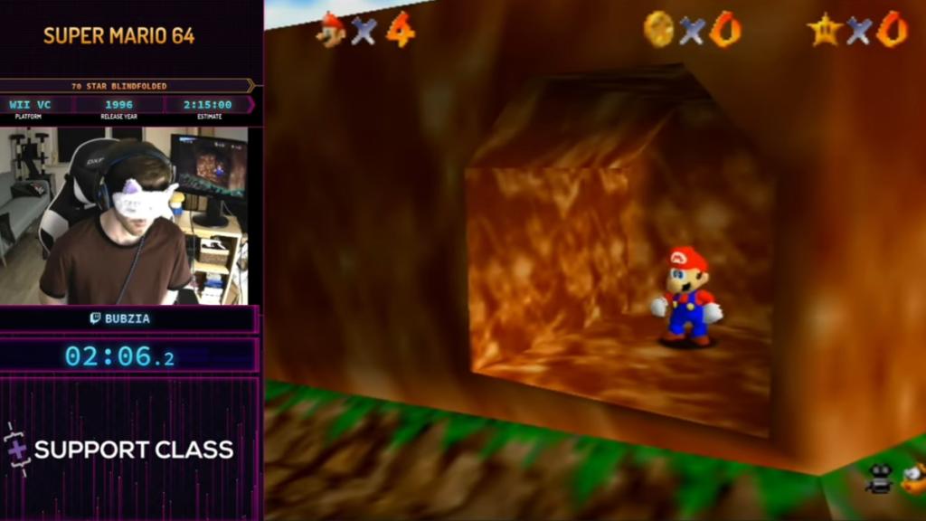 Ein Update darüber, wer Mario mit verbundenen Augen speedruns