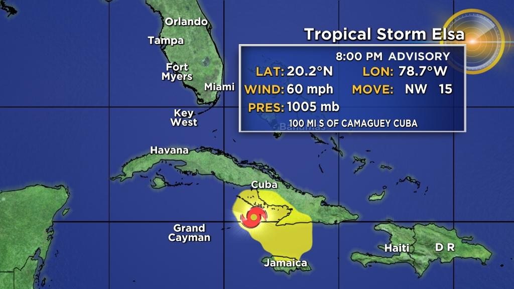 Tropensturm Elsa entfernt sich vom Südosten Kubas und Jamaikas – CBS Miami