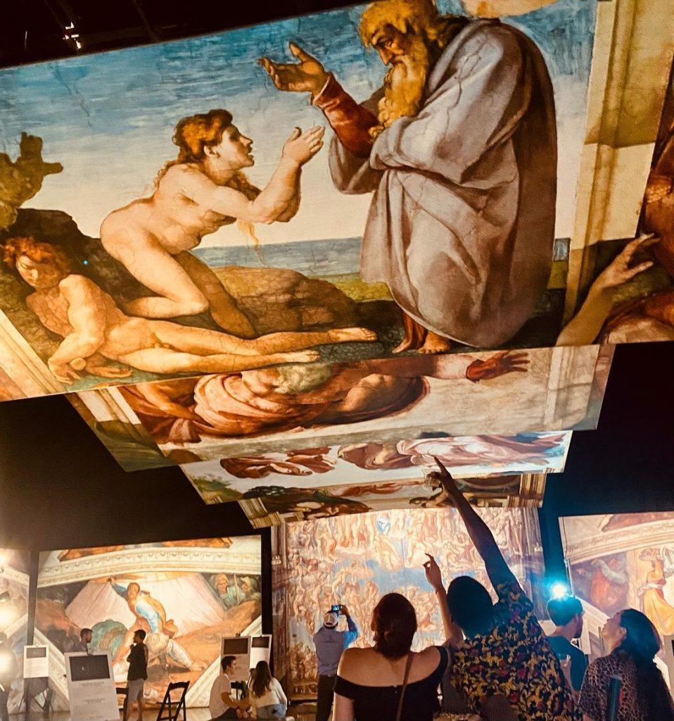 """""""Sixtinische Kapelle von Michelangelo: die Ausstellung."""" Foto mit freundlicher Genehmigung von See Global Entertainment."""