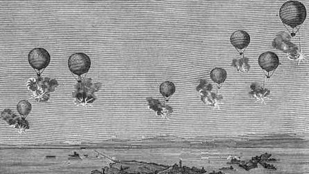 Der erste militärische Luftangriff der Geschichte fand statt