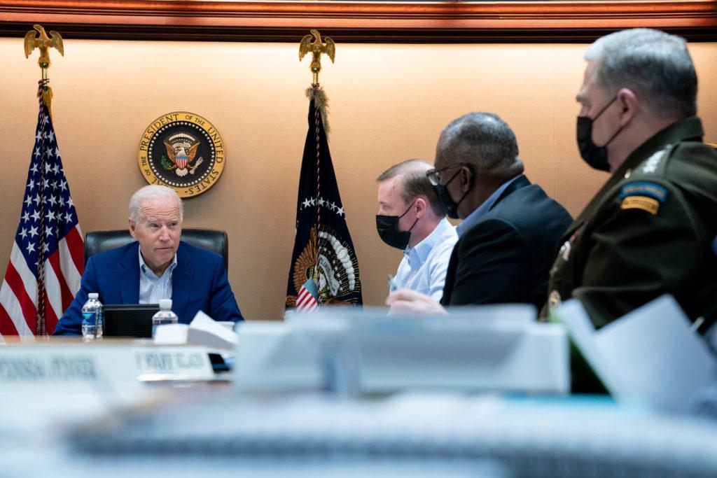 Biden spricht während seiner Rede an die Nation am Sonntag über Evakuierungen in Afghanistan