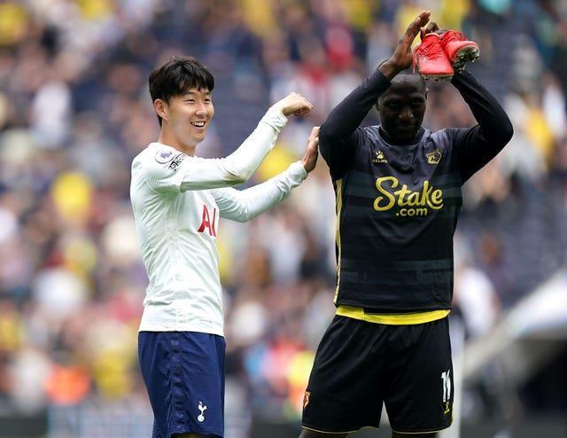 Watfords Sohn Heung-min (links) und Moussa Sissoko – die Tottenham diese Woche verlassen haben