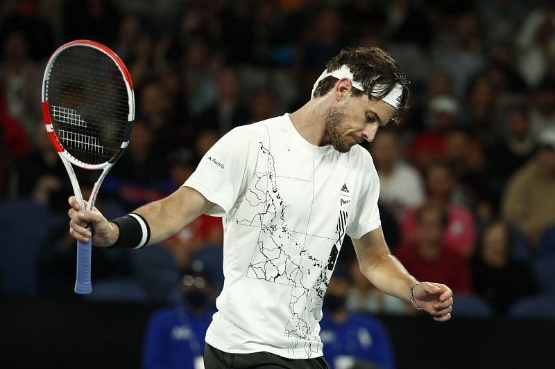 Dominic Thiem at the 2021 Australian Open