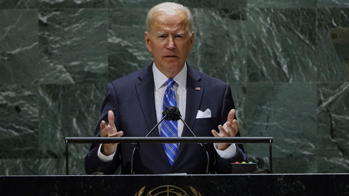 Präsident Biden spricht am Dienstag in New York vor der Generalversammlung der Vereinten Nationen.