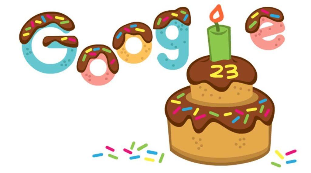 Google wird 23 mit einem animierten Doodle