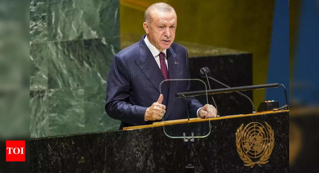 Recep Tayyip Erdogan: Der türkische Präsident Erdogan bezieht sich in der UNGA-Rede erneut auf Kaschmir |  Indien Nachrichten