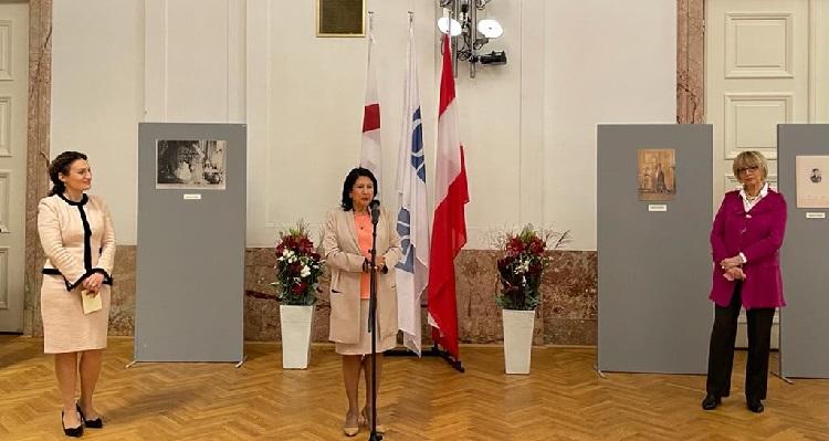 Der georgische Präsident und die Generalsekretärin der OSZE diskutieren über die russische Besatzung und die Stärkung der Frauen