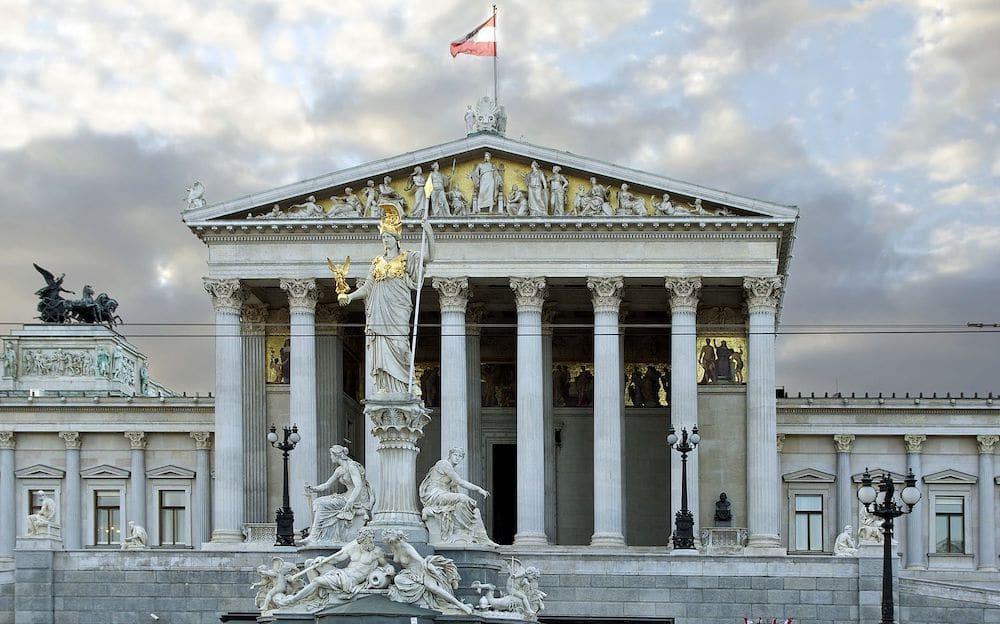 Österreichisches Parlamentsgebäude Österreich Griechenland Griechisch