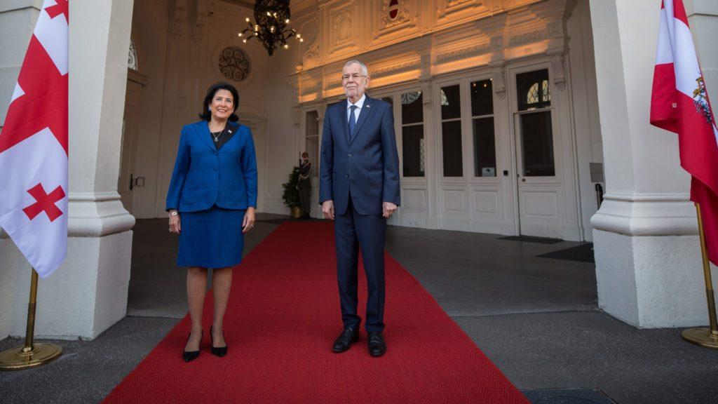 Georgische und österreichische Präsidenten treffen sich in Wien - Civil.ge