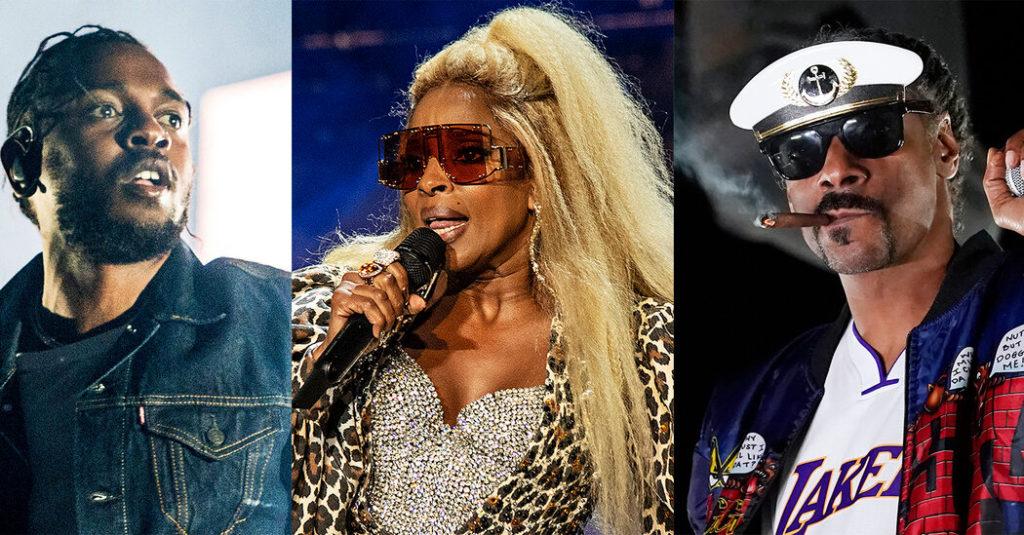 Kendrick Lamar, Dr. Dre und Snoop Dogg teilen sich die Super Bowl-Halbzeit